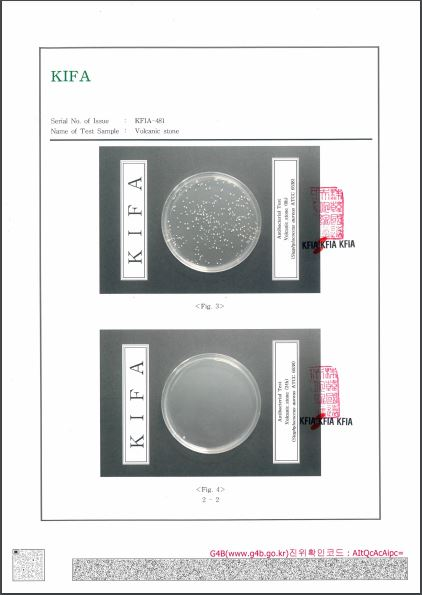 Anti-bacterial test Certificate on VALL 02